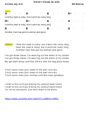 Bill Monroe - Rocky Road Blues Chord Chart - 4/4 Time, Key Of A