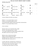 Rollin' In My Sweet Baby's Arms Chord Chart - 4/4 Time, Key Of G
