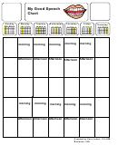 Good Speech Chart (blank)