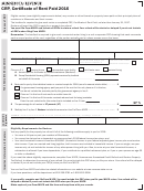 Form Crp - Certificate Of Rent Paid - Minnesota Department Of Revenue - 2016