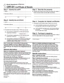 Form Crt-61 - Certificate Of Resale - Illinois