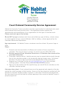 Community Service Agreement
