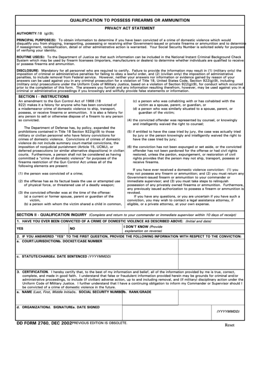 Form 2760 Ibovnathandedecker