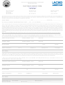 Customer Order Form - County Of Los Angeles Department Of Public Works, Waterworks Division