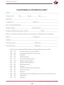 Player Medical Information Sheet