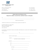 Medical Records Release Form Request To Obtain Records From Another Doctor Or Hospital