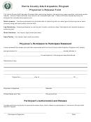 Harris County Adult Aquatics Program Physician's Release Form