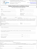 Medical Information And Release Form