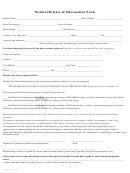 Medical Release Of Information Form