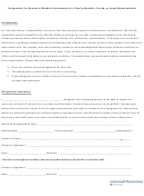 Designation Form For Release Of Medical Information To A Family Member, Friend, Or Legal Representative