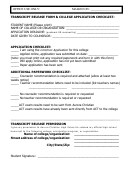Transcript Release Form & College Application Checklist