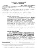 Affidavit Of No Revocation Or Death Probate Code