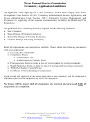 Texas Funeral Service Commission Crematory Application Form
