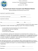 Town Of Amherst, National Background Screening Consent Form
