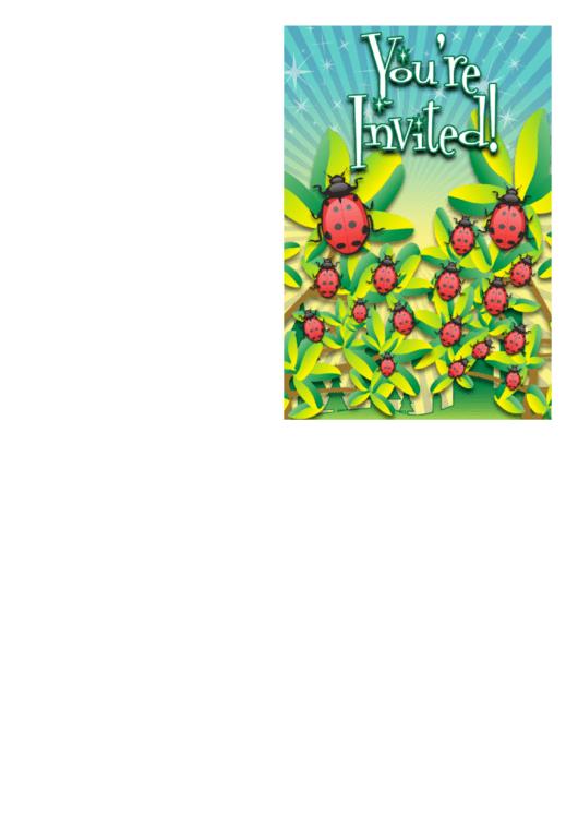 Ladybug Invitation Template Printable pdf