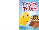 Owl Invitation Template
