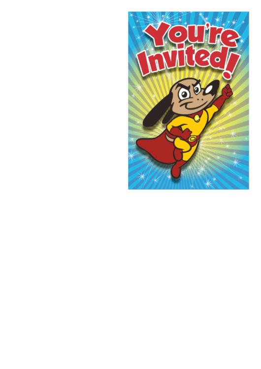 Superhero Invitation Template Printable pdf