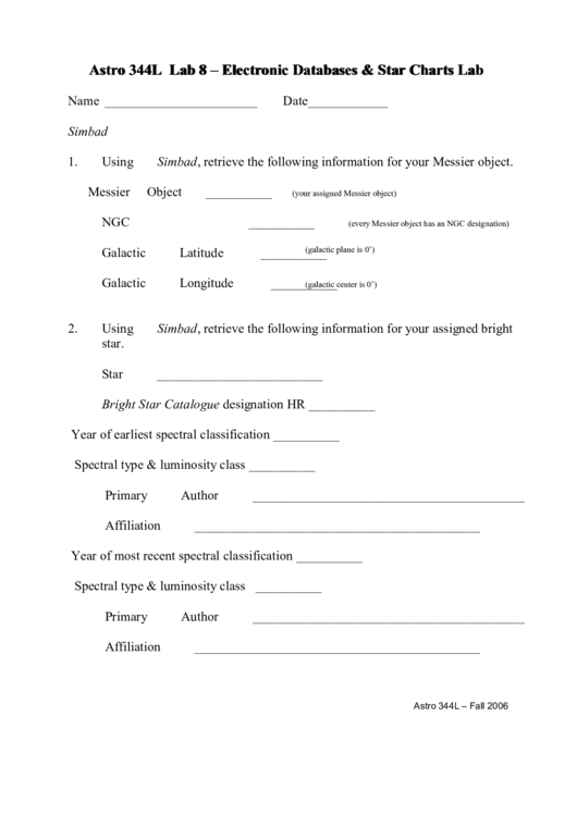 Astronomy worksheets pdf