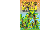 Invitation Template Bees