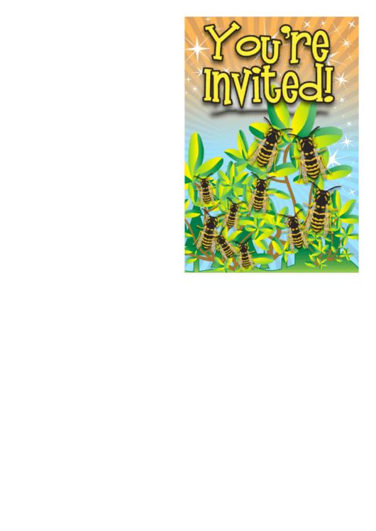 Invitation Template Bees Printable pdf
