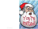 Invitation Template Santa