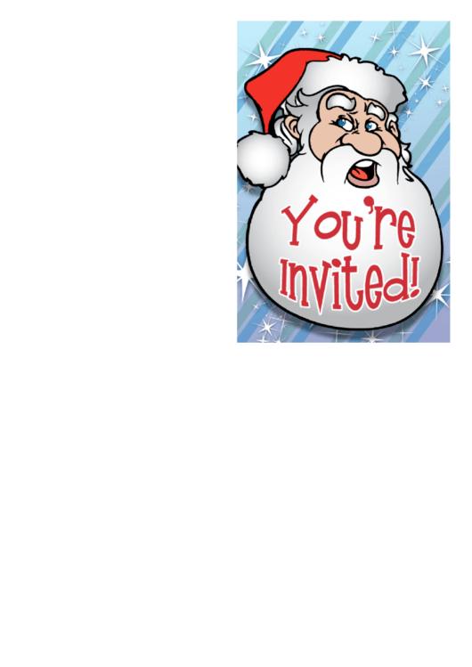 Invitation Template Santa Printable pdf