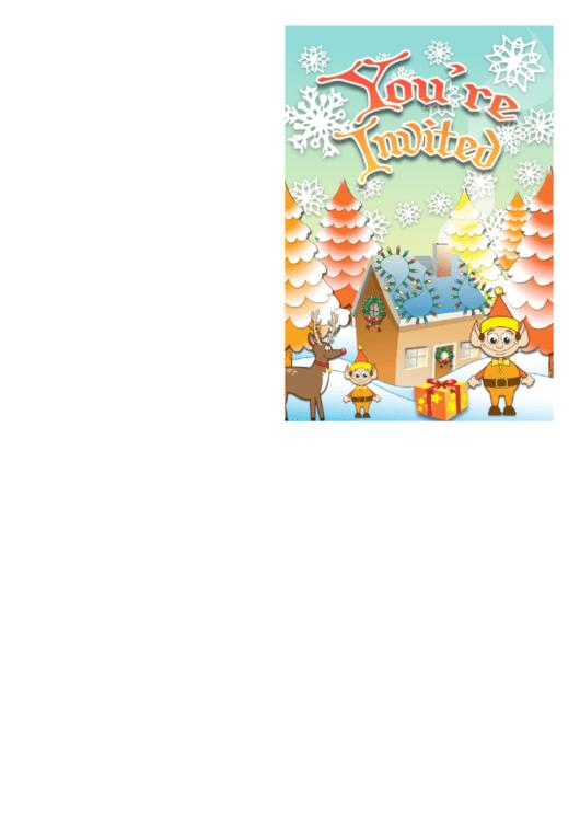 Santa Elves Invitation Template Printable pdf