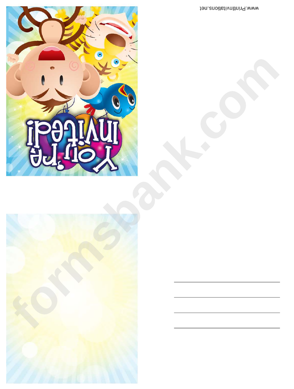 Invitation Template Monkey