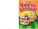 Hippy Bus Invitation Template
