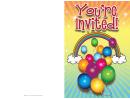 Rainbow Invitation Template