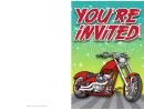 Motorbike Invitation Template