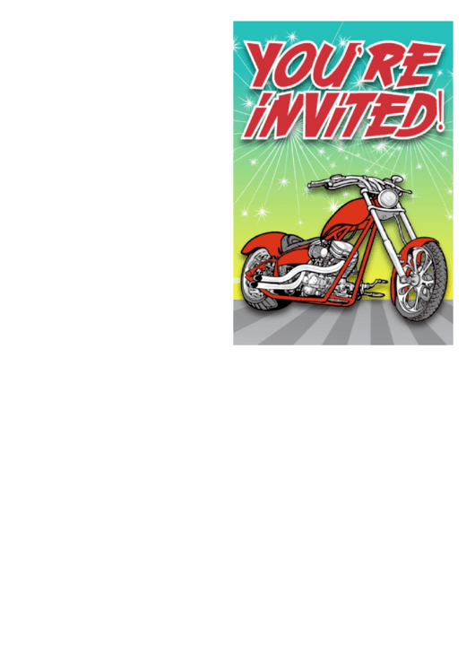 Motorbike Invitation Template Printable pdf