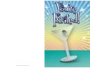 Martini Invitation Template
