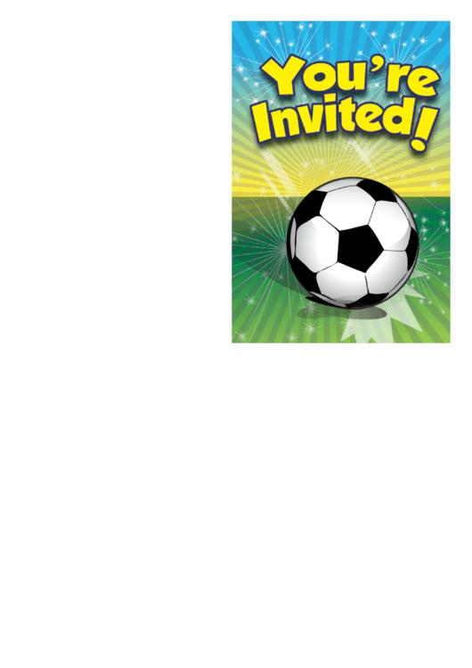 Football Invitation Template Printable pdf