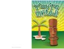 Island Invitation Template