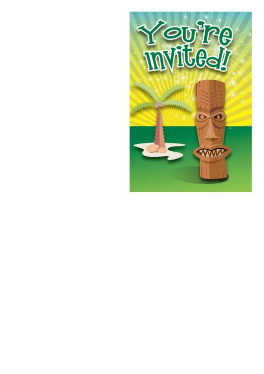 Island Invitation Template Printable pdf