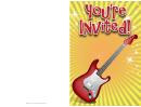 Guitar Invitation Template