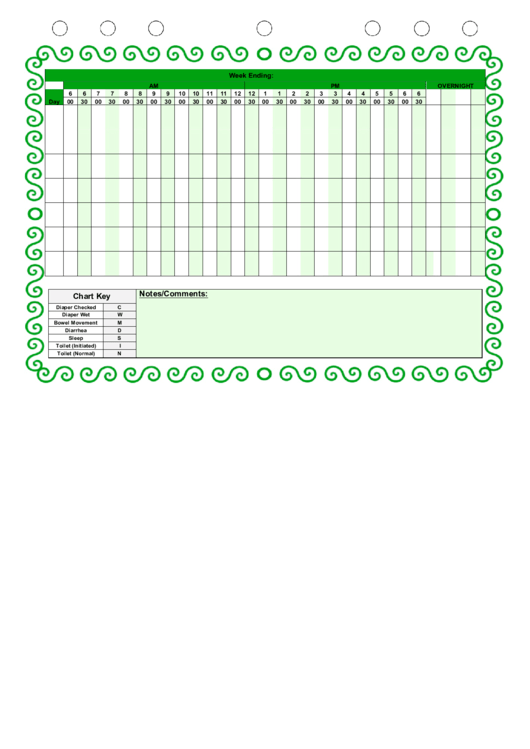 diaper changing log template printable pdf download