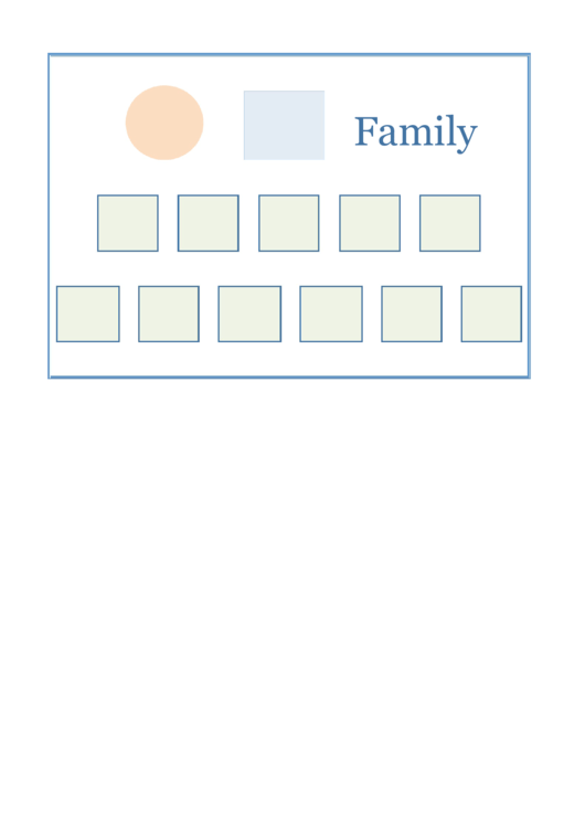Family Tree Diagram Template Printable pdf