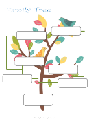 Family Tree Template - Birds