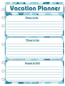 Vacation Planner Template