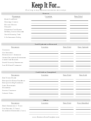 Document Inventory Template