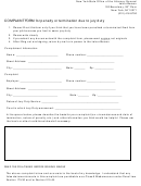 Complaint Form For Penalty Or Termination Due To Jury Duty