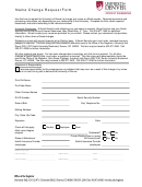University Of Denver Name Change Request Form