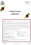 Change Of Name Notification