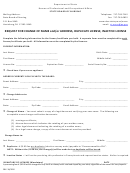 Request For Change Of Name And/or Address, Duplicate License, Inactive License