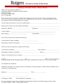 Rutgers Change Of Name Form