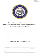 Personal History Statement Template - North Carolina Criminal Justice Education And Training Standards Commission