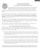 Form Orp-3 - Optional Retirement Program Of The University Of North Carolina Acknowledgement Of Particpation