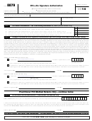 Form 8879 - Irs E-file Signature Authorization - 2014